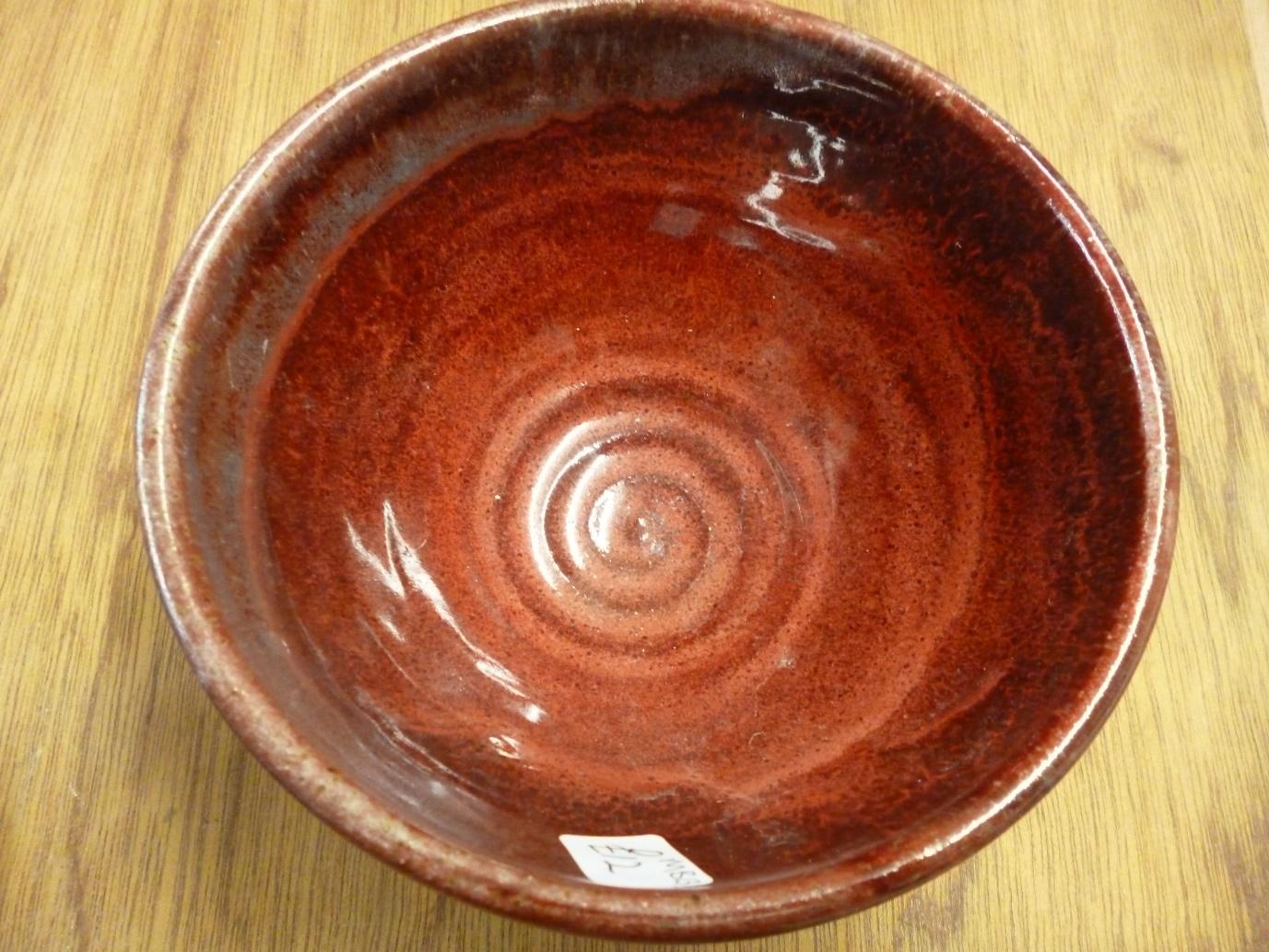 Max Balme Copper red glazed stoneware bowl